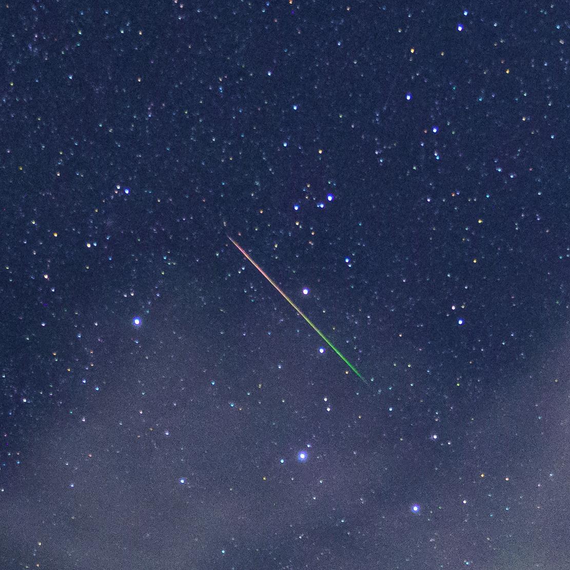 ペルセウス座流星群に挑戦